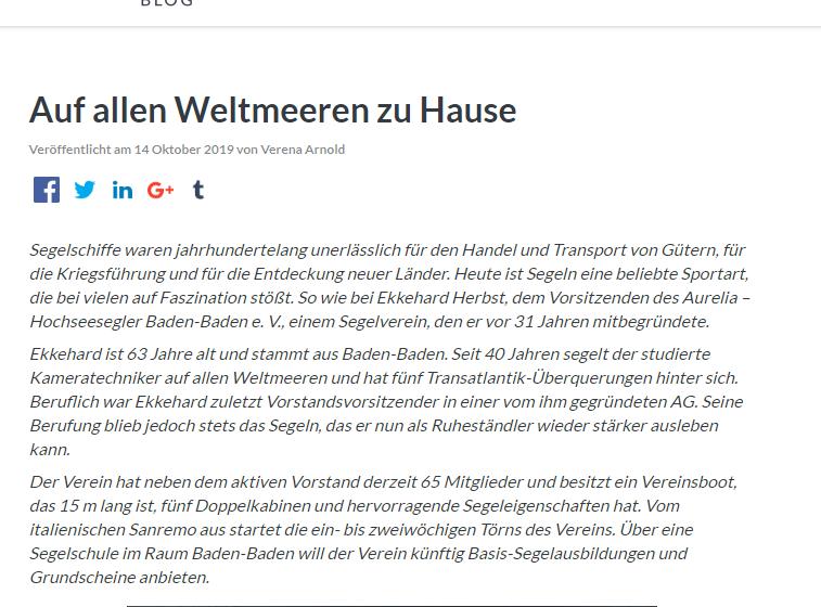 Ekkehard Herbst im Interview