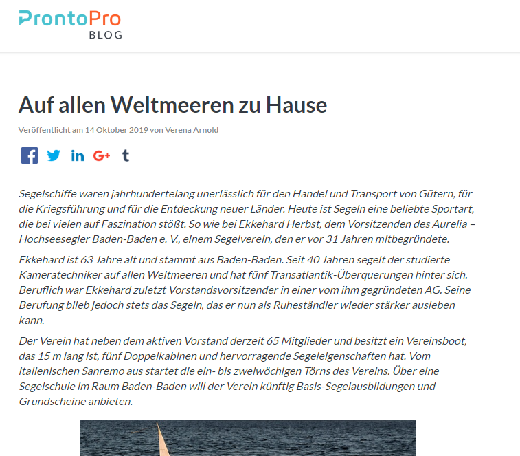 ProntoPro Blog Interview Ekkehard Herbst